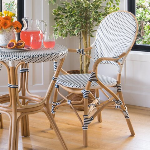Tawanna Rattan Arm Chair (Set of 2) by Bayou Breeze