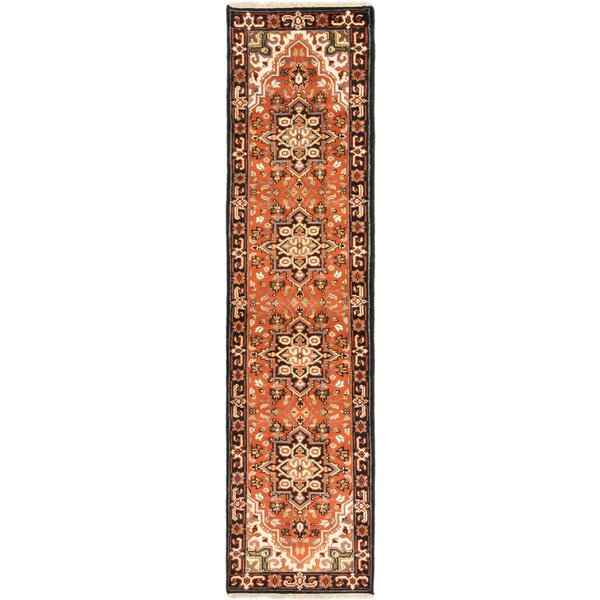 One-of-a-Kind Evony Hand-Knotted Wool Copper Area Rug by World Menagerie