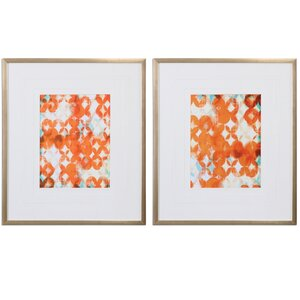 'Modern' 2 Piece Framed Painting Print Set by Mercury Row