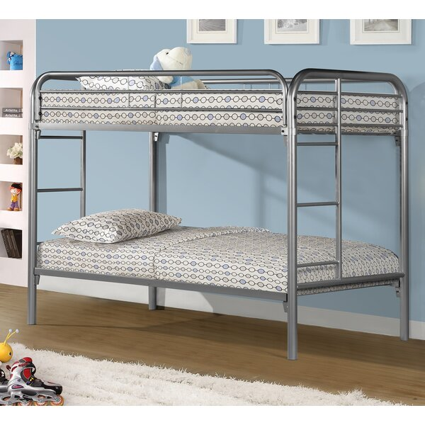 Cloverdale Twin over Twin Slat Bunk Bed by Harriet Bee