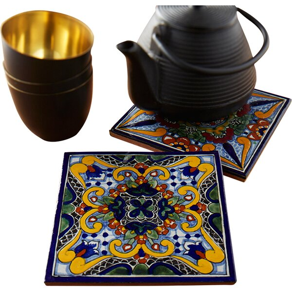 Moroccan Midnight Hand Painted Trivets (Set of 2) by Native Trails, Inc.