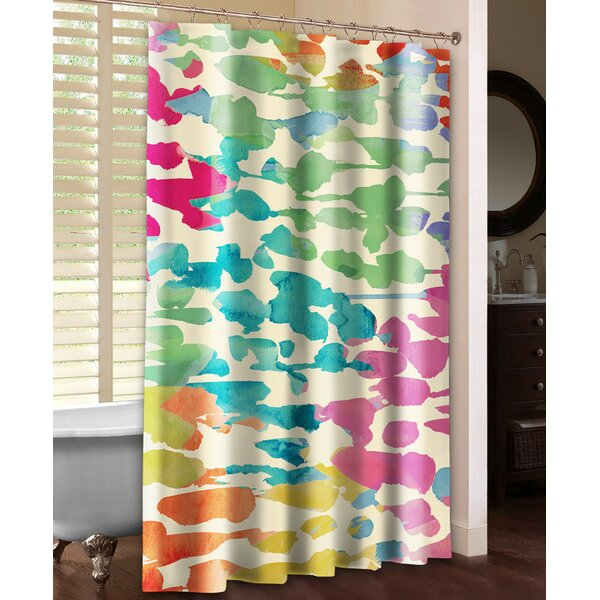 Splashes of Color Shower Curtain by Laural Home