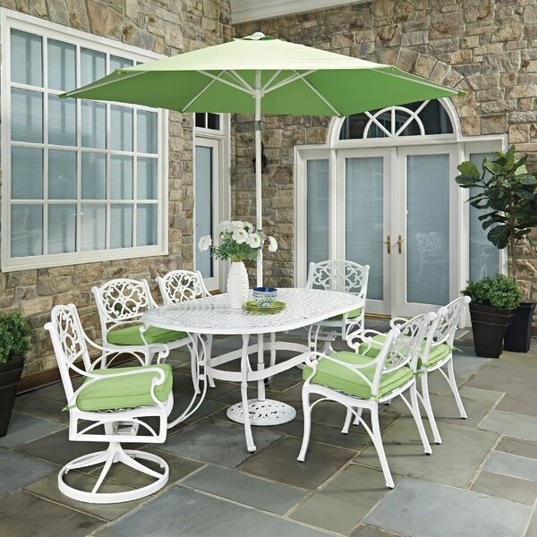 Biscayne 9 Piece Dining Set with Cushion by Home Styles