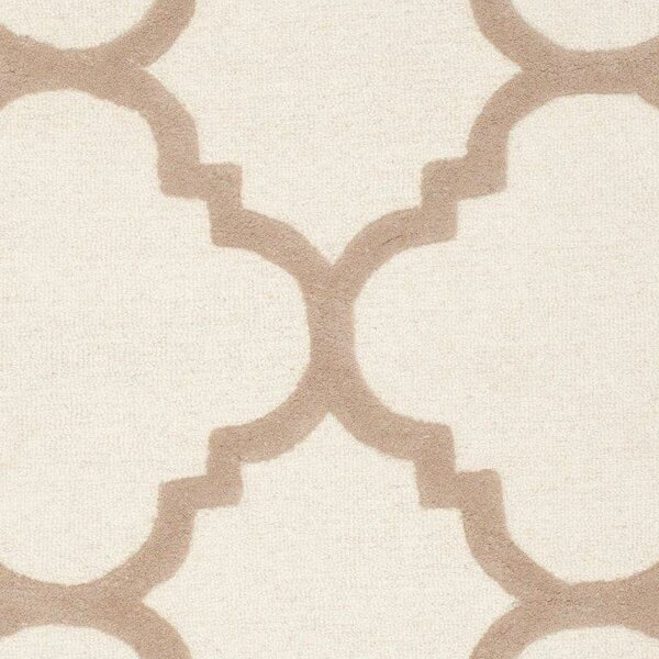 Charlenne Hand-Tufted Wool Ivory/Beige Area Rug by Zipcode Design