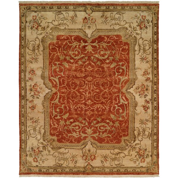 Honolulu Hand-Knotted Rust/Ivory Area Rug by Wildon Home ®
