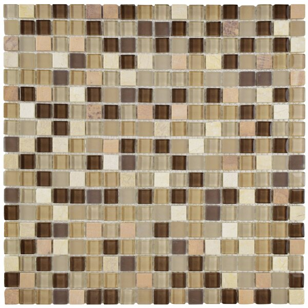 Ambit Glass/Natural Stone Mosaic Tile in Crest by EliteTile