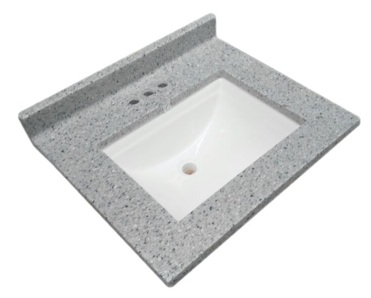 Design House Wave Cultured Marble 37 Single Bathroom Vanity Top
