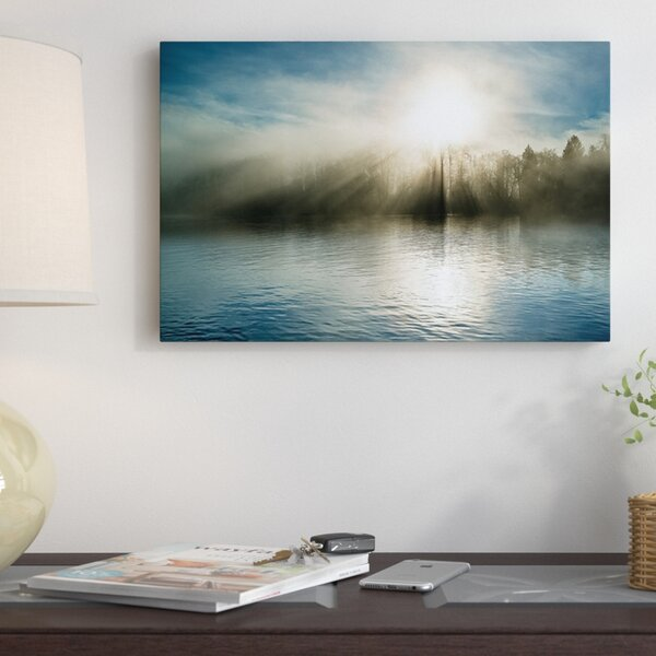 Rising Above The Water Photographic Print on Wrapped Canvas by Red Barrel Studio