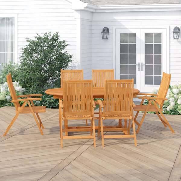 Cadsden 7 Piece Extendable Dining Set by Three Posts