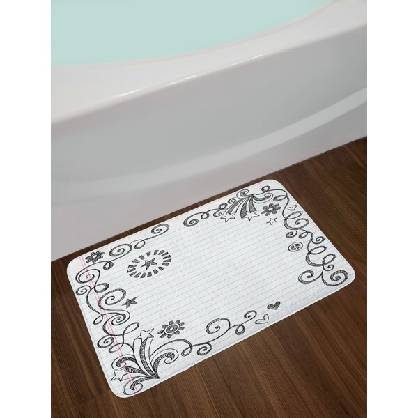 Back Doodle Bath Rug by East Urban Home