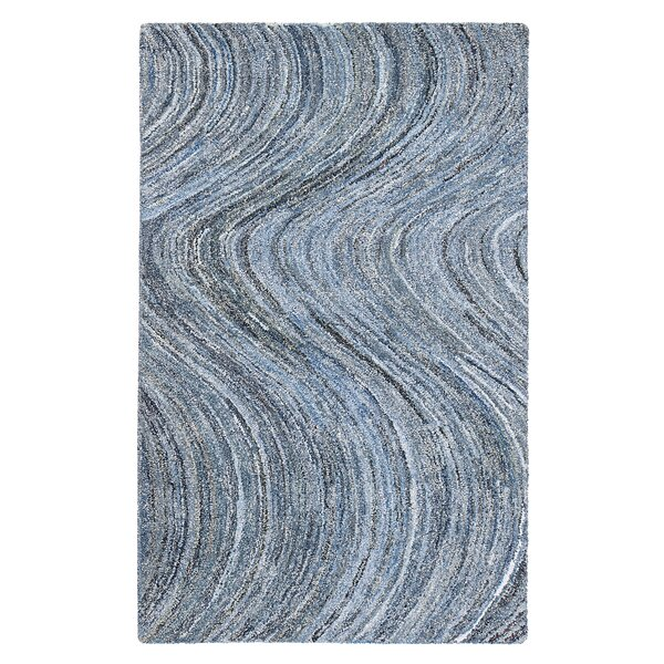 Mekdad Hand-Tufted Blue Area Rug by Bungalow Rose