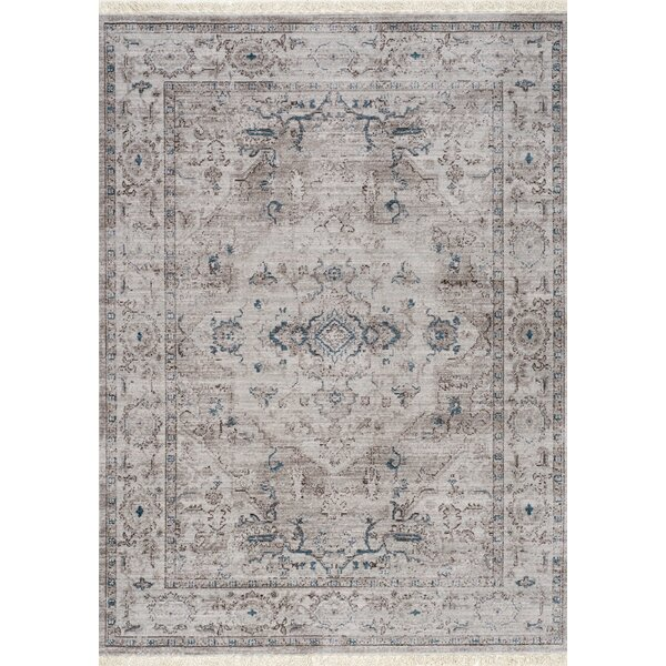 Maggie Faded Gray/Blue Area Rug by Bungalow Rose