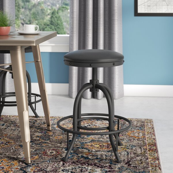 Erik 30 Adjustable Height Swivel Bar Stool by Williston Forge