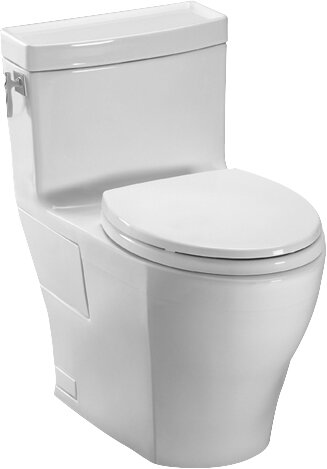 Aimes High Efficiency 1.28 GPF Elongated One-Piece Toilet by Toto
