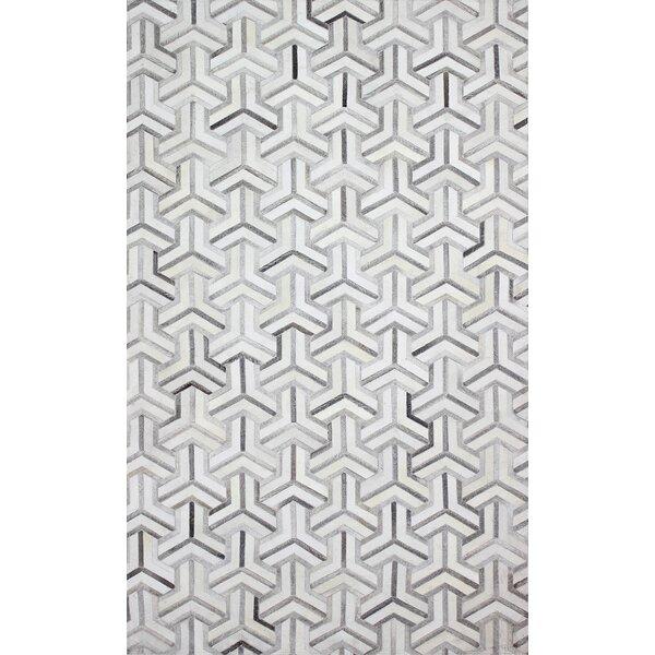Davi Handmade Grey Area Rug by Wade Logan