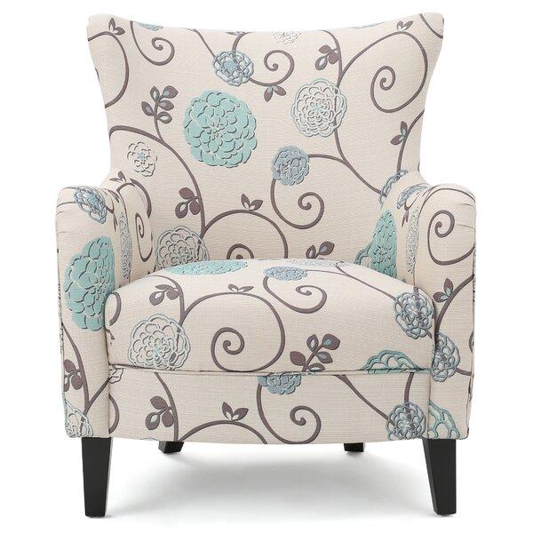 Nisha Wingback Arm Chair by Beachcrest Home Beachcrest Home