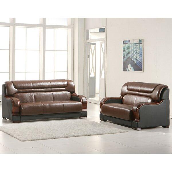 Murphree 2 Piece Leather Living Room Set by Red Barrel Studio