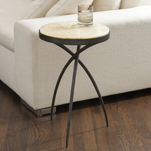 Tripod End Table with Onyx Top by Global Views