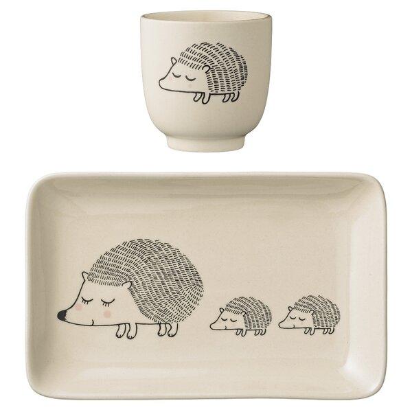 Jovan Ceramic Hedgehogs 2 Piece 4.75 Appetizer Plate Set by Viv + Rae