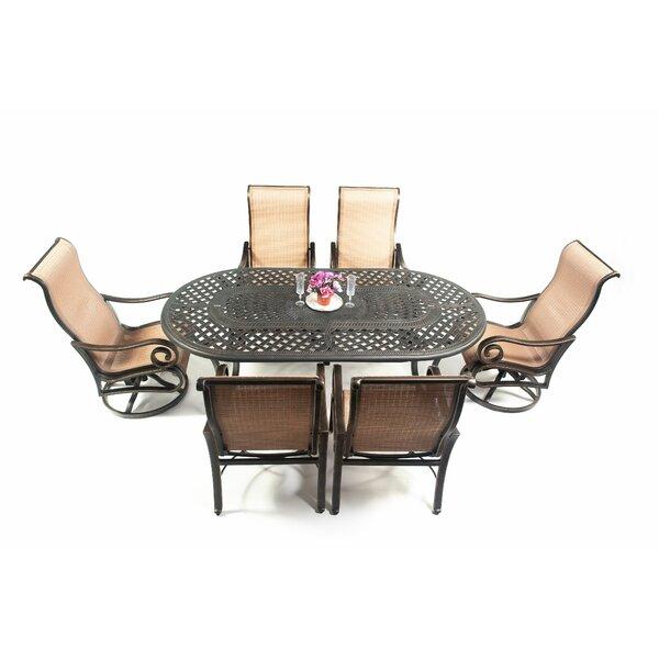 Oliphant 7 Piece Sunbrella Dining Set by Fleur De Lis Living