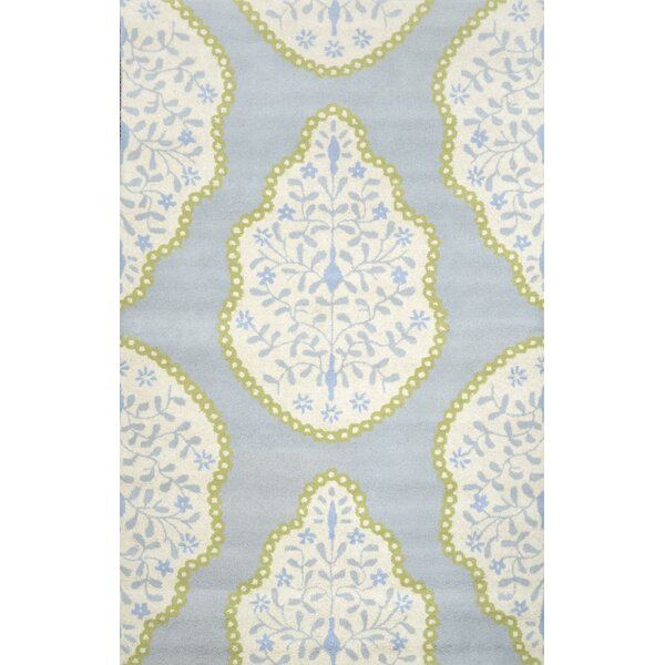 Varanas Hand-Tufted Wool Baby Blue Area Rug by nuLOOM