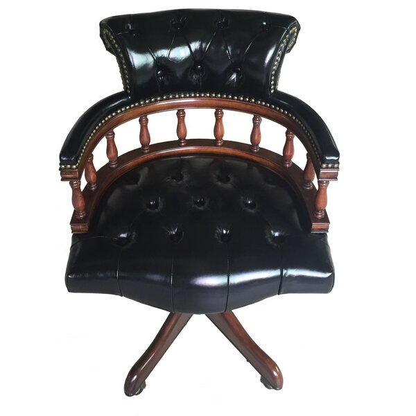 Leather Bankers Chair by Eastern Legends