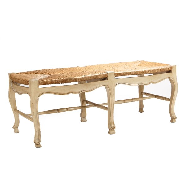 Toulouse Solid Wood Bench by Manor Born Furnishings Manor Born Furnishings