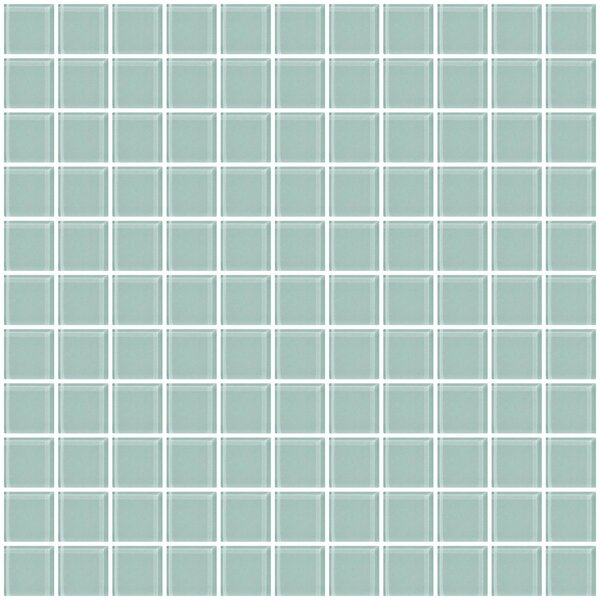 1 x 1 Glass Mosaic Tile in Pale Aqua Blue by Susan Jablon