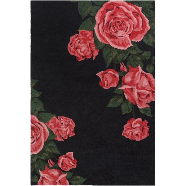 Lacasse Hand-Tufted Red Area Rug by House of Hampton