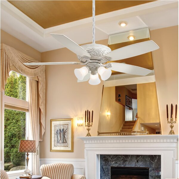 52 Classica 5 Blade Gallery Edition Provencal Blanc LED Ceiling Fan with Remote by Minka Aire