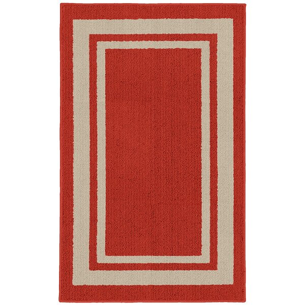 Ginger Red Indoor/Outdoor Area Rug by Winston Porter