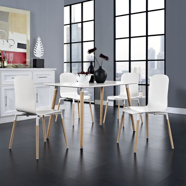 Stack Wood 5 Piece Dining Set by Modway