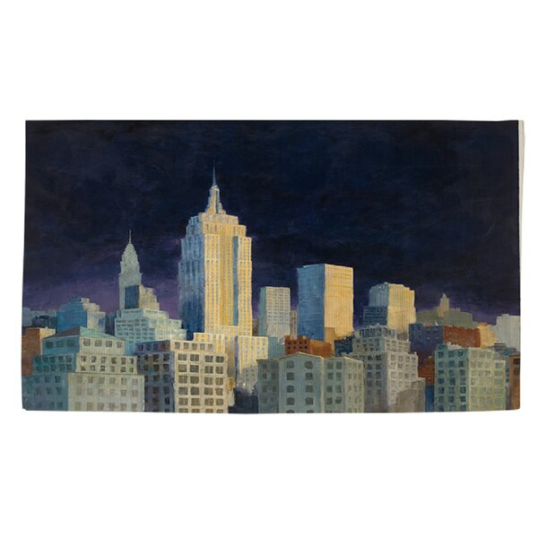 Midnight in Midtown Navy Area Rug by Manual Woodworkers & Weavers