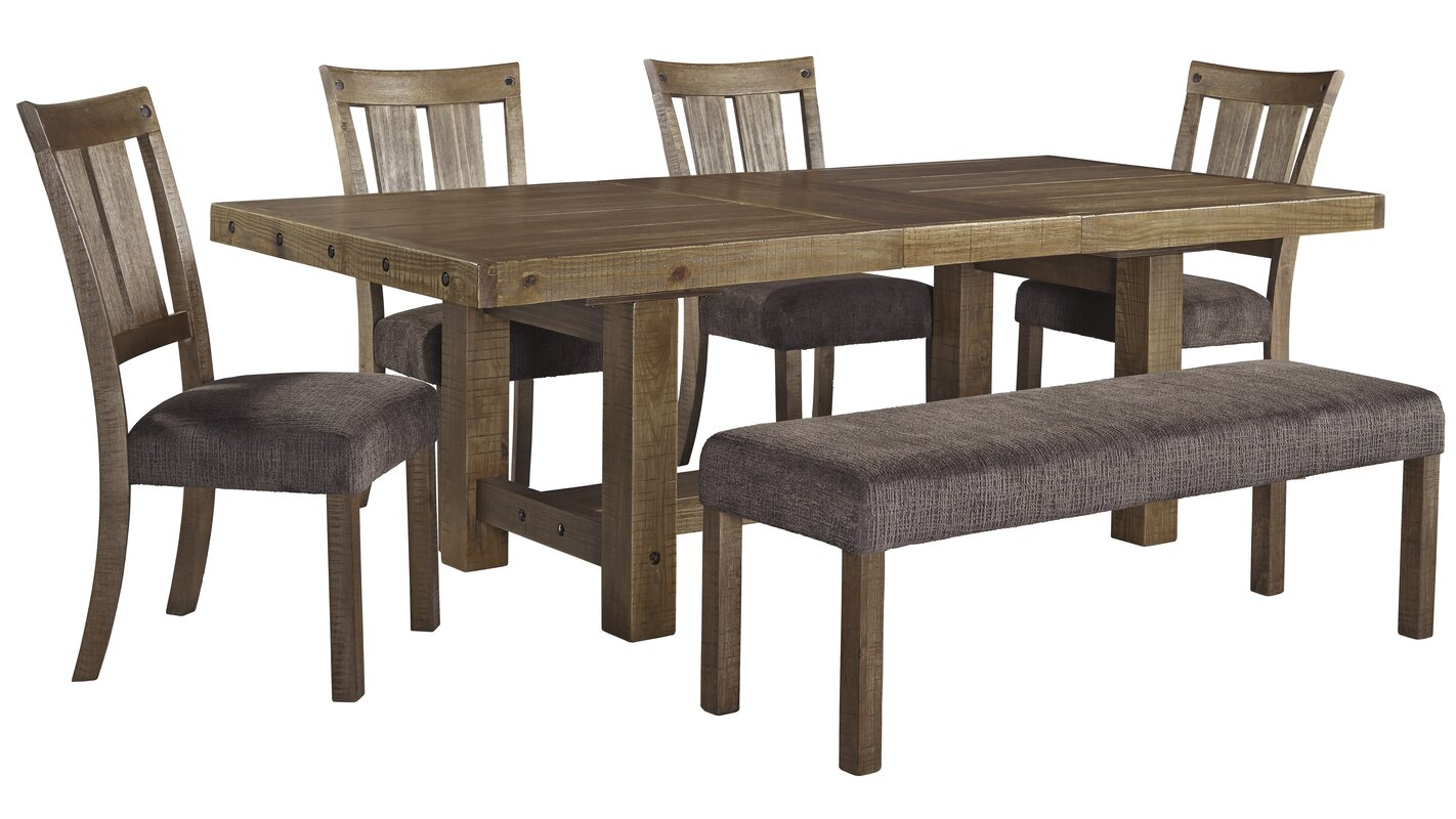 loon peak etolin extendable dining table reviews wayfair. Black Bedroom Furniture Sets. Home Design Ideas