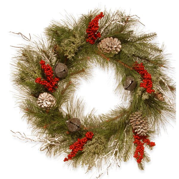 24 Bells and Berries Wreath by National Tree Co.