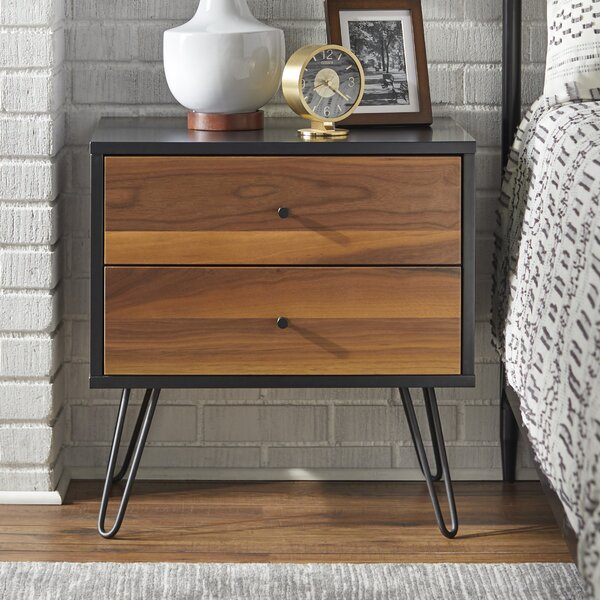Schutt 2 Drawer Nightstand By Union Rustic