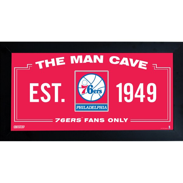 NBA Framed Man Cave Sign Memorabilia by Steiner Sp