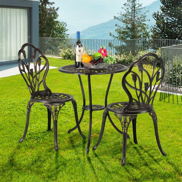 Hamlett Patio 3 Piece Bistro Set By Fleur De Lis Living