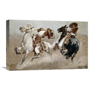 'Cowboy Fun in Old Mexico' by Frederic Remington Painting Print on Wrapped Canvas by Global Gallery