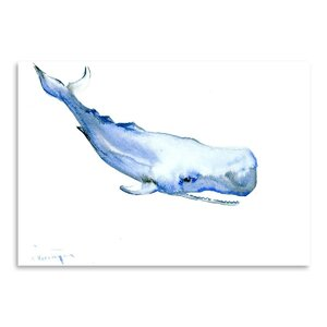 Sperm Whale Painting by East Urban Home