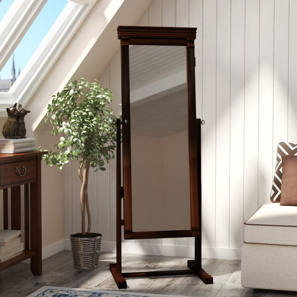 Rectangle Jewelry Armoire Cheval Mirror by Andover Mills