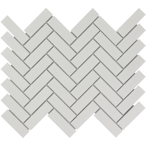 Paris 1 x 3 Porcelain Mosaic Tile in Matte White by The Mosaic Factory