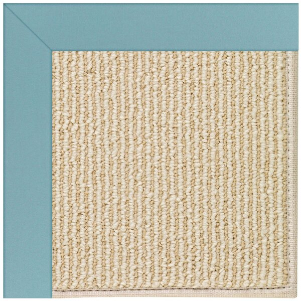 Lisle Machine Tufted Bright Blue/Beige Indoor/Outdoor Area Rug by Longshore Tides