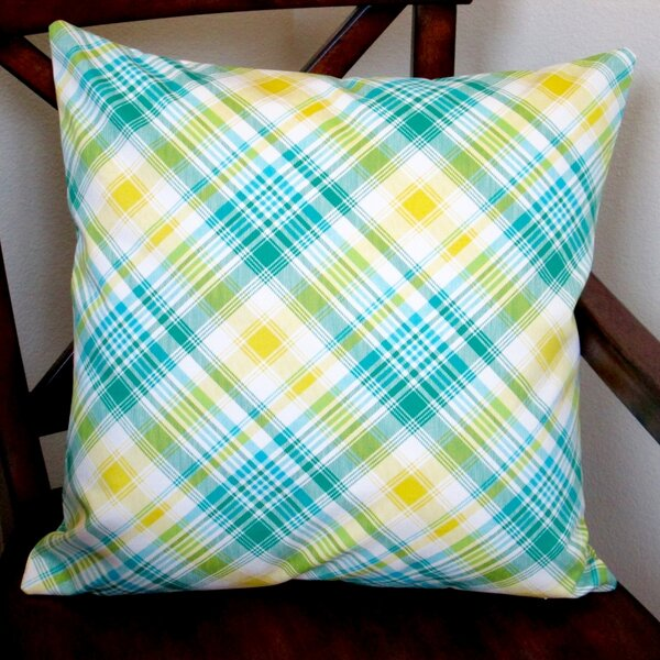 Notting Hill Plaid Tartan Indoor Cotton Throw Pillow by Artisan Pillows