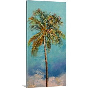 'Palm Tree' by Michael Creese Painting Print on Wrapped Canvas by Great Big Canvas