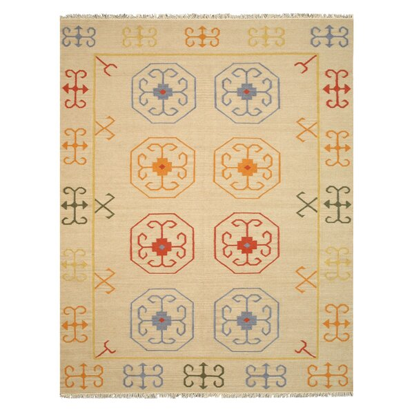 Dreshertown Hand-Woven Wool Beige Area Rug by Bloomsbury Market