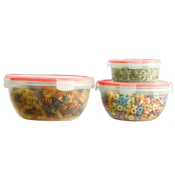 Round 3 Container Food Storage Set with Lid by Rebrilliant