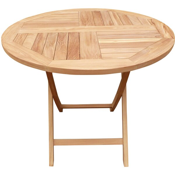 Cosper Folding Teak Dining Table by Highland Dunes