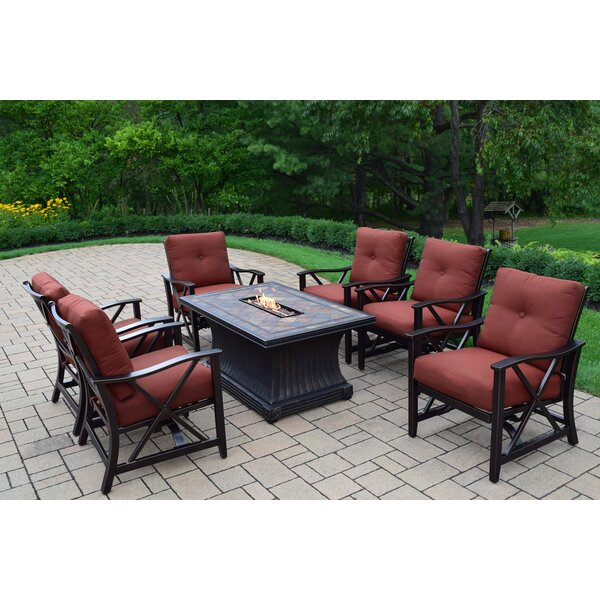Norfleet 7 Piece Conversation Set with Cushions by Red Barrel Studio