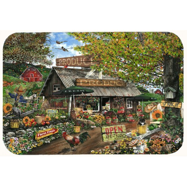 The Produce Fruit Stand Kitchen/Bath Mat by Caroline's Treasures